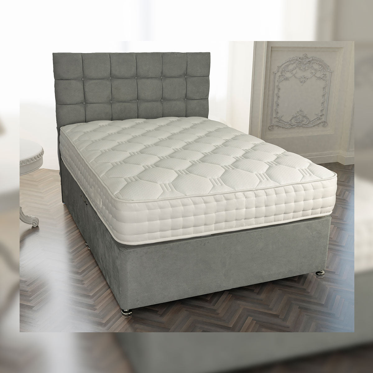 Regal 2000 Pocket Gel Divan Bed Set European Sizes Available