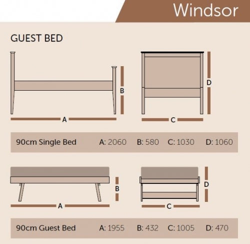 Windsor Solid Oak Beds