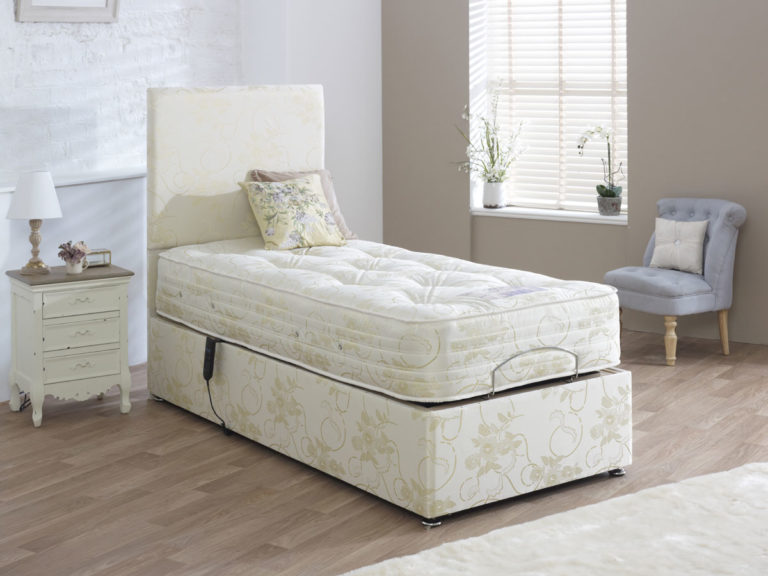 HEALTH THERAPY LYON ELECTRIC FULLY ADJUSTABLE DIVAN BED MATTRESS INCLUDED