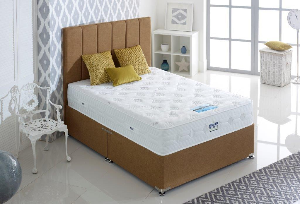 HEALTH THERAPY SILVER 1000 POCKET SPRINGS AND COOL BLUE MEMORY FOAM MATTRESS