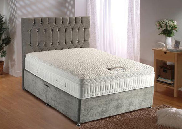 Silver Active 2800 Divan Set (Mattress = Medium)