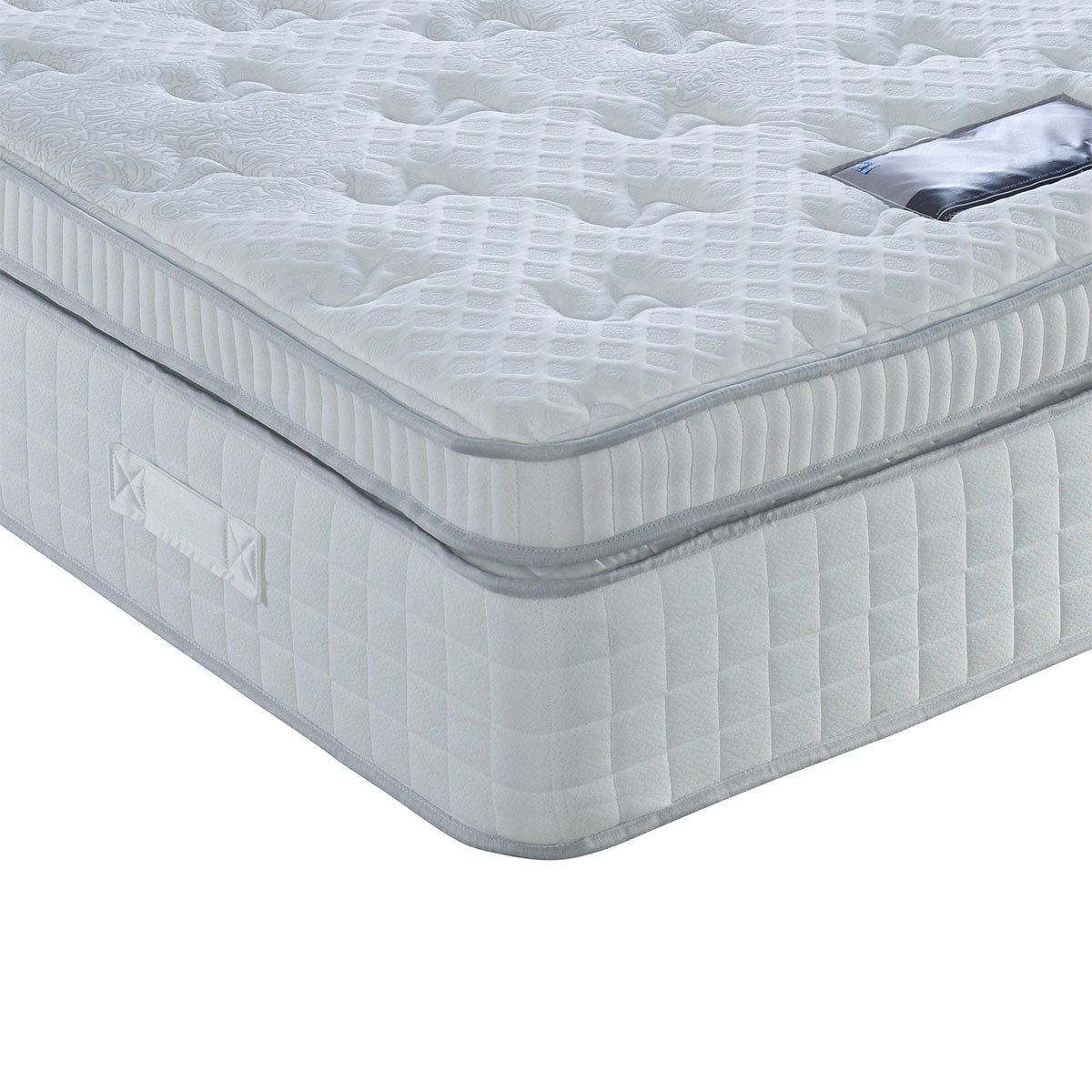 Turin 2000 Pocket Spring Box Style Pillow Top Mattress Medium Comfort