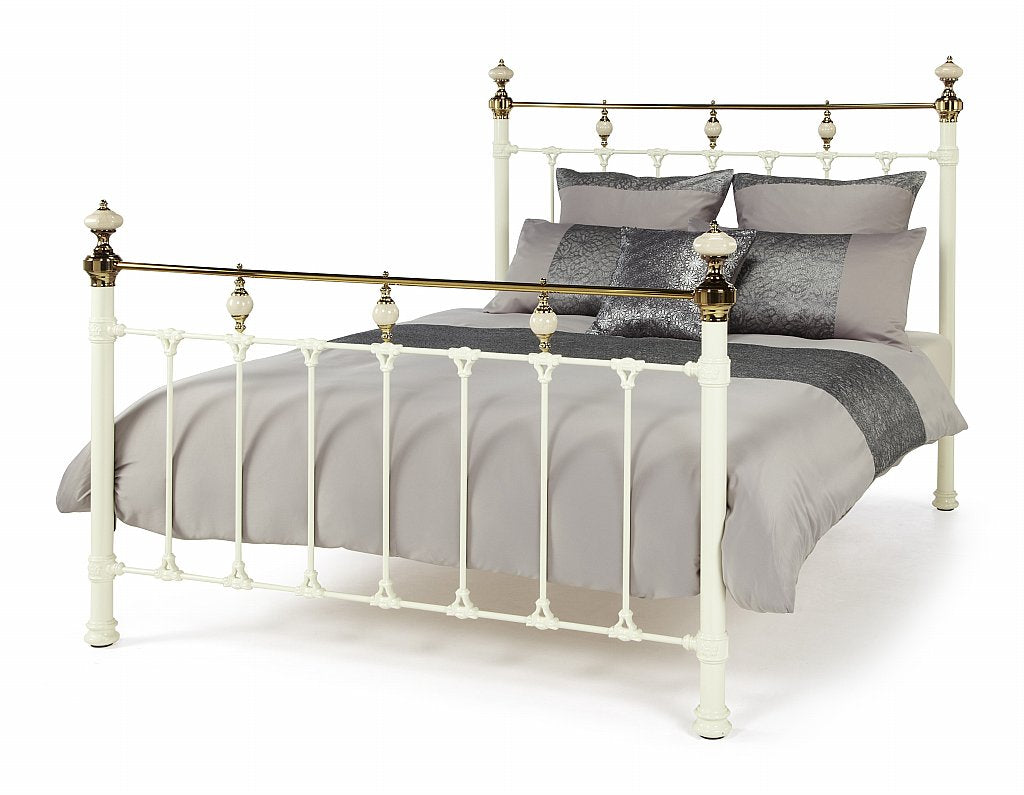 Precious Metal Abigail Ivory with Dark Brass Bed