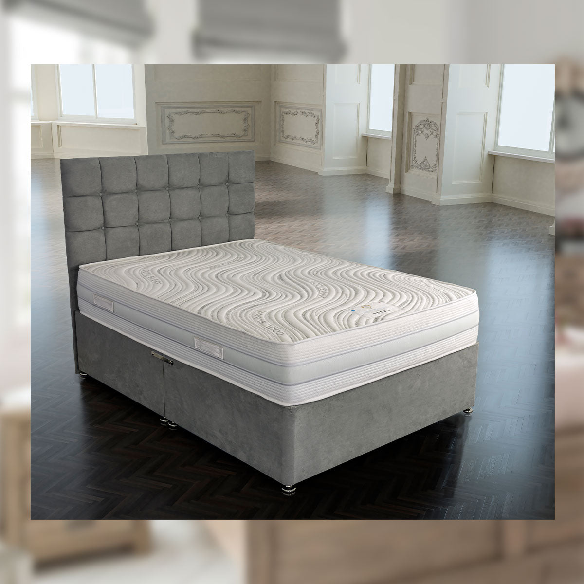 Kensington 2000 Pocket Gel Encapsulated Divan Bed Set European Sizes Available