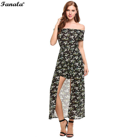 FANALA Summer Jumpsuit Women Sexy Rompers Fashion Off the Shoulder Going Out Print Floral Playsuit Casual Beach Party Bodysuit
