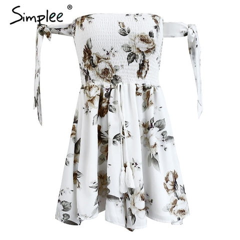 Simplee Backless flower print jumpsuit romper women Elastic drawstring special sleeve playsuit Summer beach party short overalls - Fab Fash
