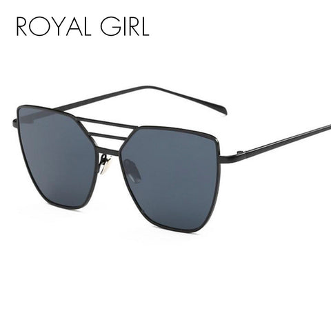 ROYAL GIRL High Quality Women Vintage Sun Glasses Flat top Metal Sunglasses Brand Designer Sun shades ss217