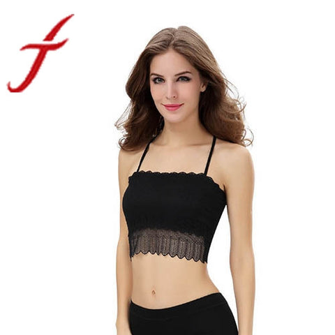 JECKSION Camiseta de Tirantes clothesTank 2016 New Fashion Women Tank Tops Lace Strap Wrapped Chest Shirt Cropped Top
