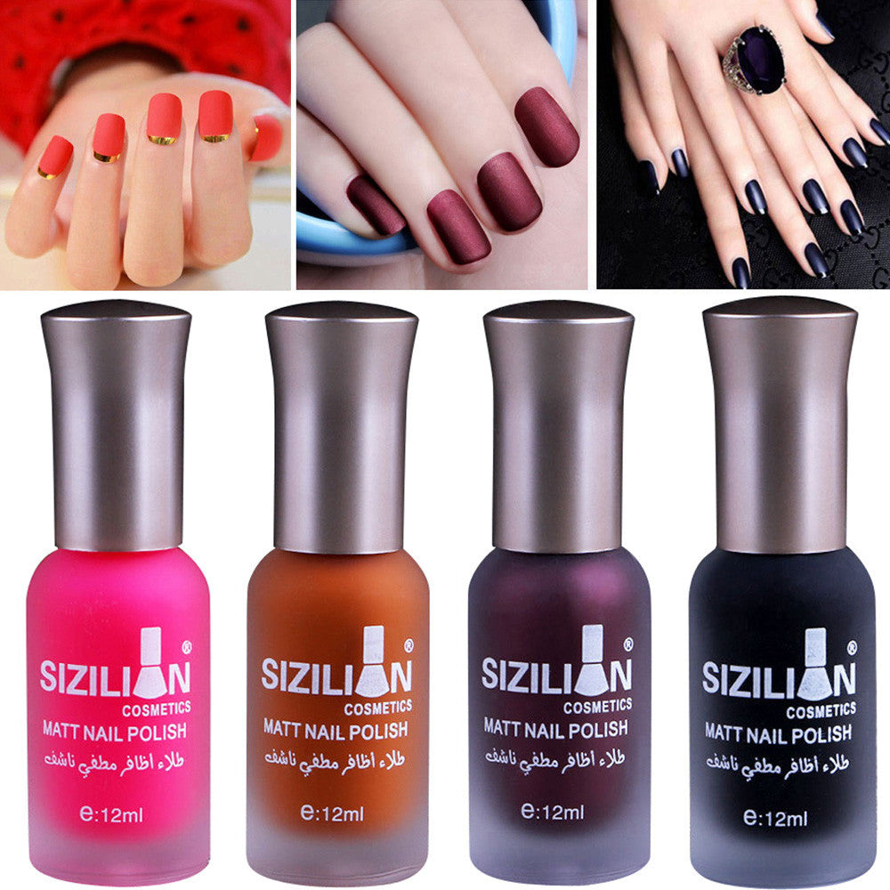 12ml Matte Dull Nail Polish Fast Dry Long Lasting Nail Art Matte ...