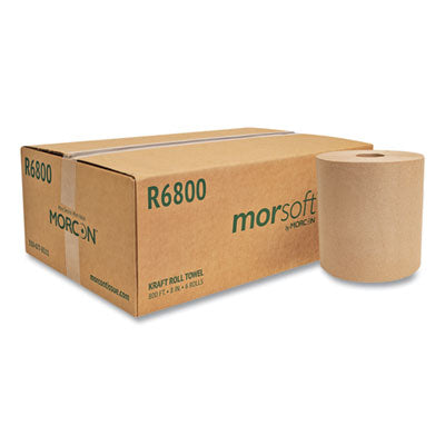 "R6800- Morcon 8"" Natural Roll Paper Towel"