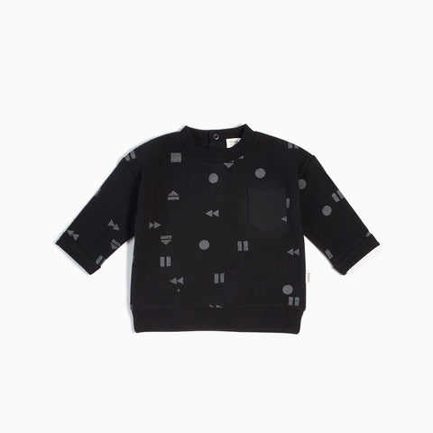Pull col rond « Play/Replay » noir