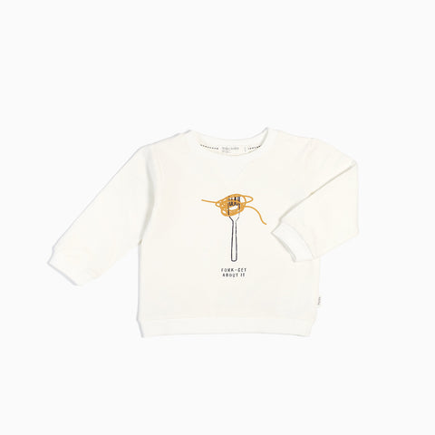Pull « Fork-Get About It » Blanc