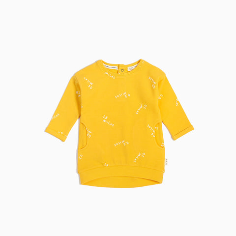 Robe Sweat Jaune « Miles to Go »