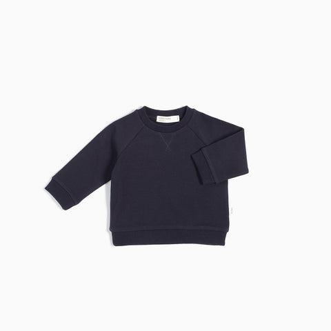 Pull Col Rond « Miles Basic » Bleu Marin