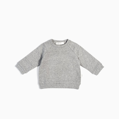 Pull Col Rond « Miles Basic » Gris Chiné