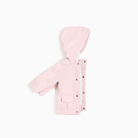 Manteau à capuche « Miles Basic » Rose