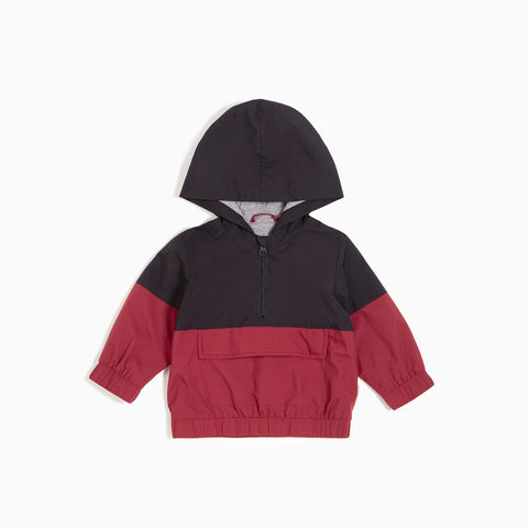 Manteau coupe-vent rouge « Arcade »