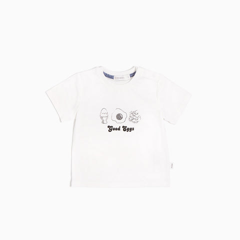 T-shirt blanc cassé « Good Eggs »
