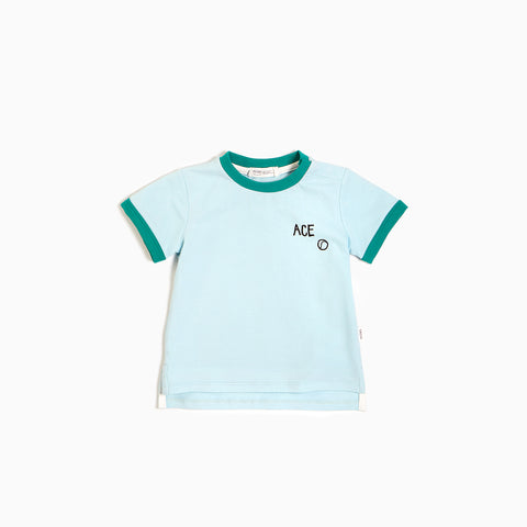 T-shirt bleu pâle « Ace Tennis »