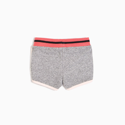 Short « Tennis » gris chiné et corail