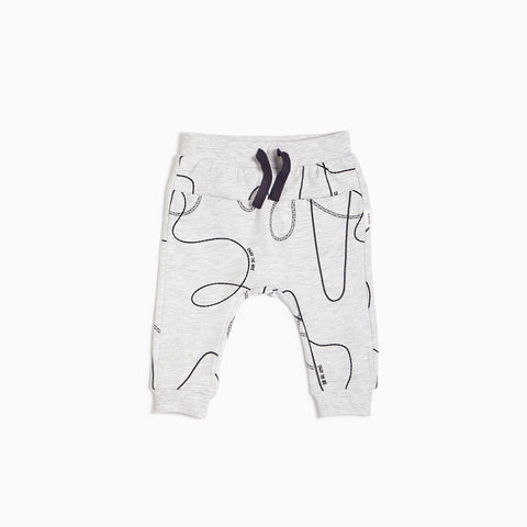 Jogging gris chiné clair « rail »  (3M - 24M)