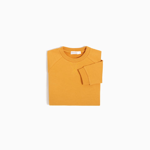 Pull Col Rond « Miles Basic » Moutarde