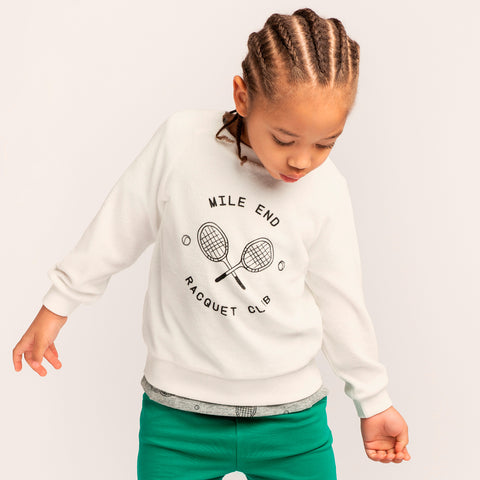 Pull blanc cassé « Mile End Racquet Club »