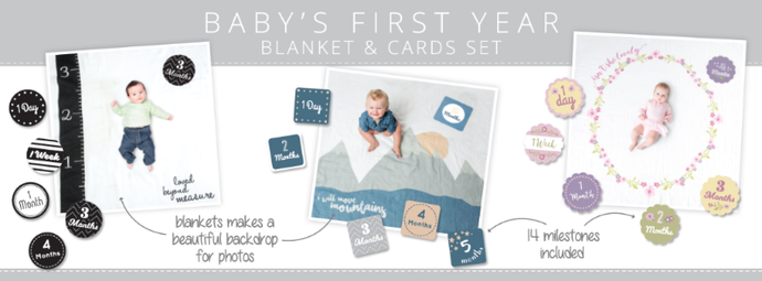 Lulujo Milestone Blanket and Card Set