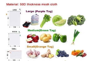 Reusable Mesh Produce Bags - 3 pack