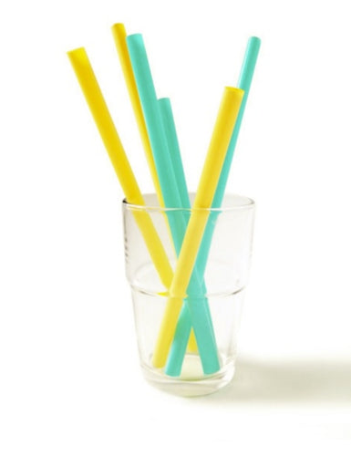 Silicone Family of Straws- 6 pack