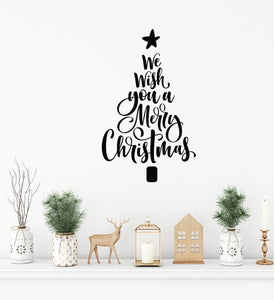 Wall/window Decal - We wish you a Merry Christmas