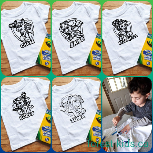 Kids Colouring Shirts