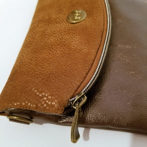 Karlin Clutch - Chocolate Gold