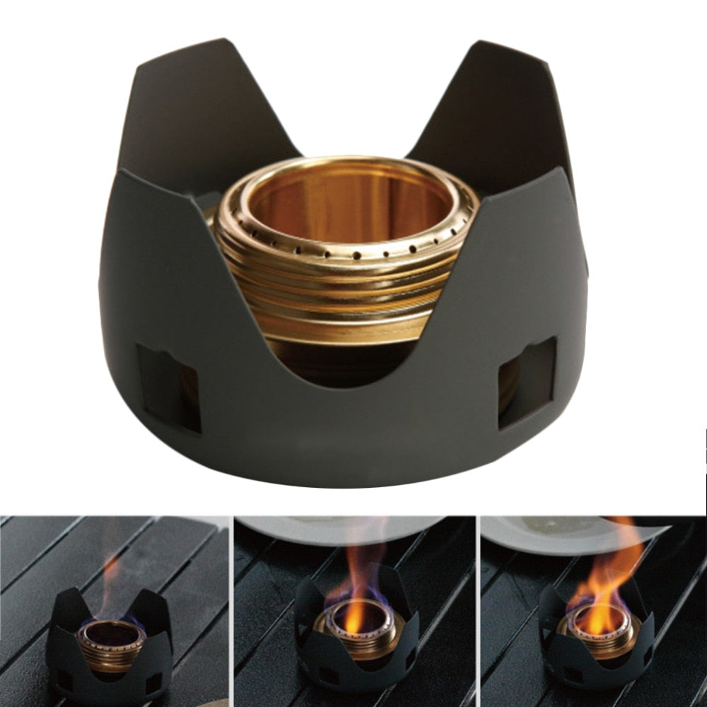 Alcohol outdoor portable windproof camping field alcohol stove furnace cookware gas cookout picnic cooker free shipping