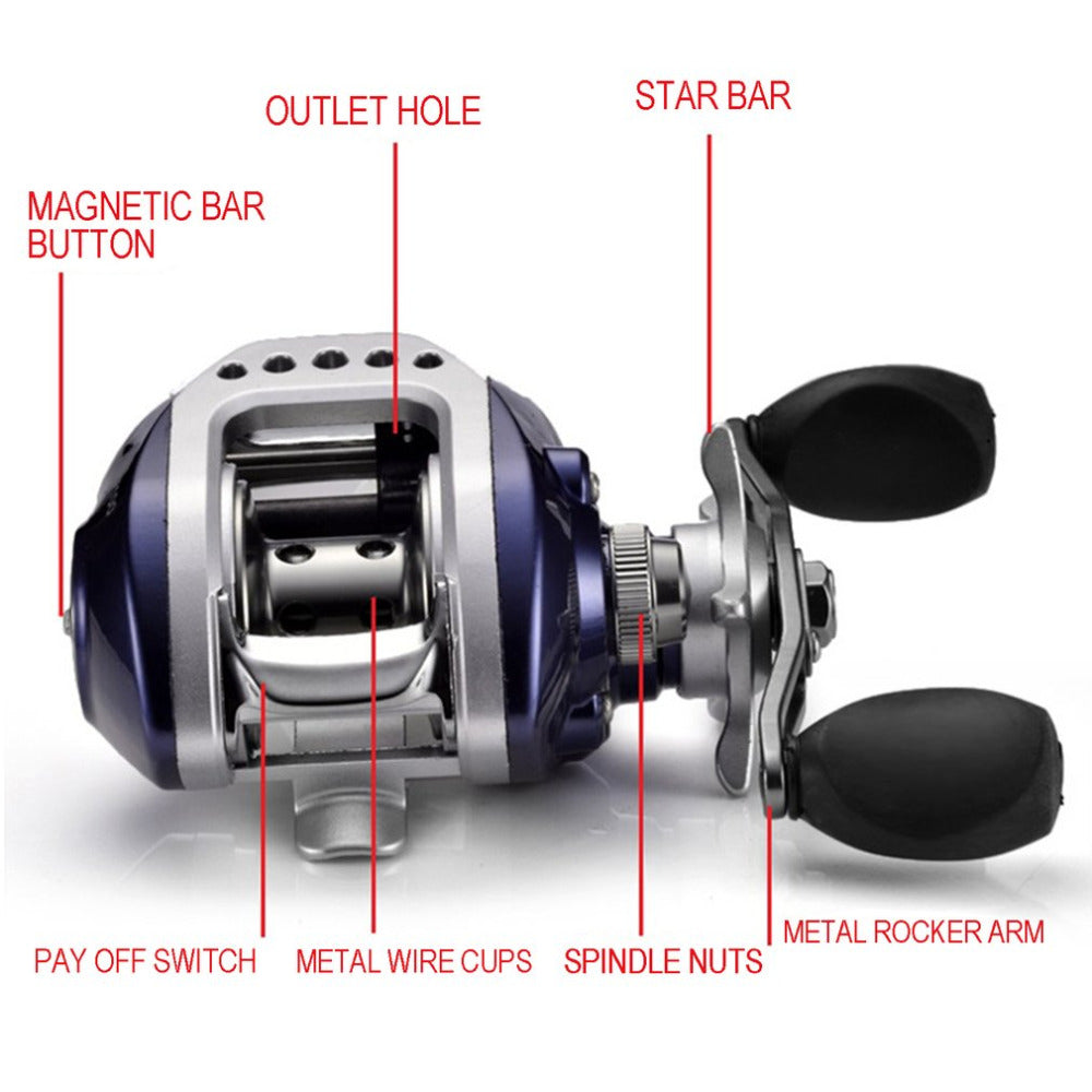 Drop Shipping 10+1BB Bait Casting Fishing Reel Gear Ratio 6.3:1 Baitcasting Fishing Reel With Magnetic Brake Pesca drop shippin