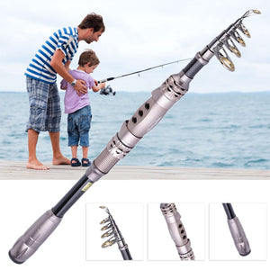 Top Outdoor Fishing Rod Carbon Fiber Surf Casting Spinning Pole Stick Carp drop shipping