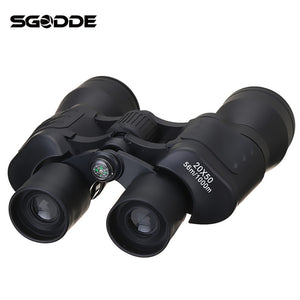 New Arrival Outdoors 20x50 Binocular BAK4 Prism Waterproof Monocular Glimmer Night Vision Telescope 56/1000M Camping Traveling