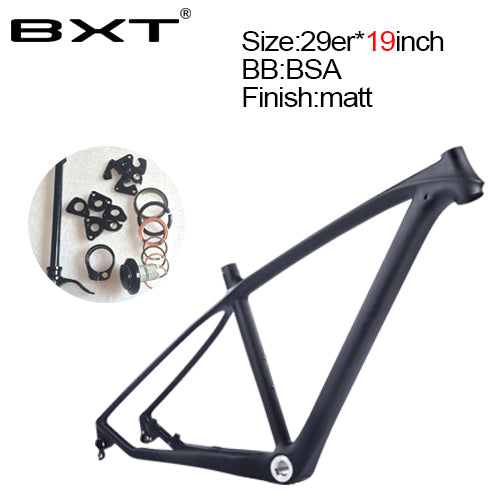 2018 brand new BXT mtb carbon frame 29er 3k mountain bikes frame  17.5'' 19''  bicicletas mountain bike 29  free shipping
