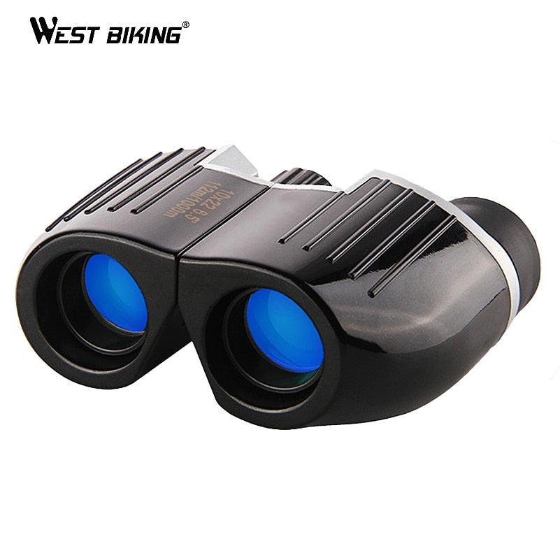 WEST BIKING Portable High Times 12X22 BAK4 Prism Binoculars HD All-optical Blue Film Waterproof Mini Telescope Porro Binoculars