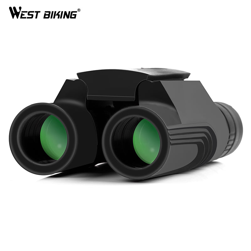 WEST BIKING 10*25 WP BAK4 Prism Binoculars Telescope Zoom All-optical Green Film Binoculars Travel Sightseeing Outdoor Telescope