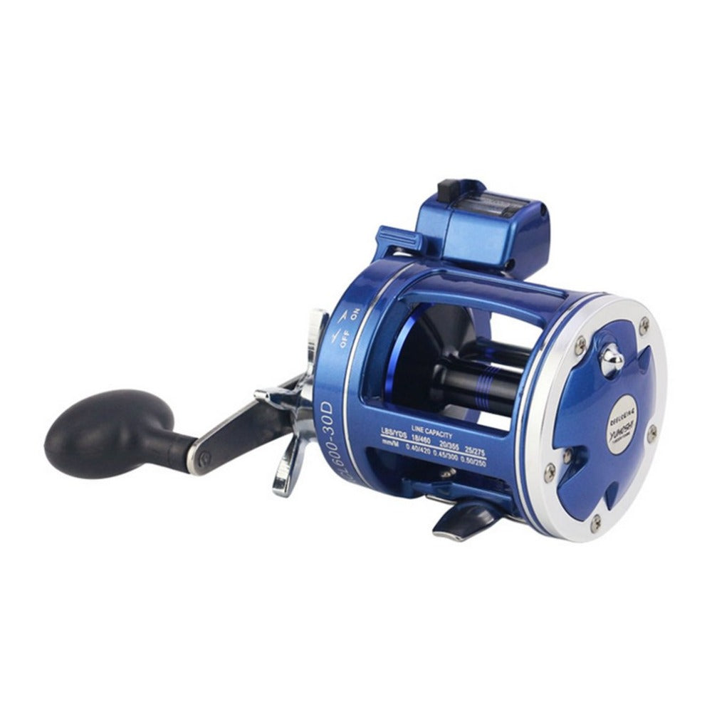 yomoshi Metal Left/Right Handle Casting Sea Fishing Reel Saltwater Baitcasting Reel Coil 12 Ball Bearings Cast Drum Wheel