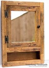 Rustic Barnwood Medicine Cabinet Recessed With Open Shelf