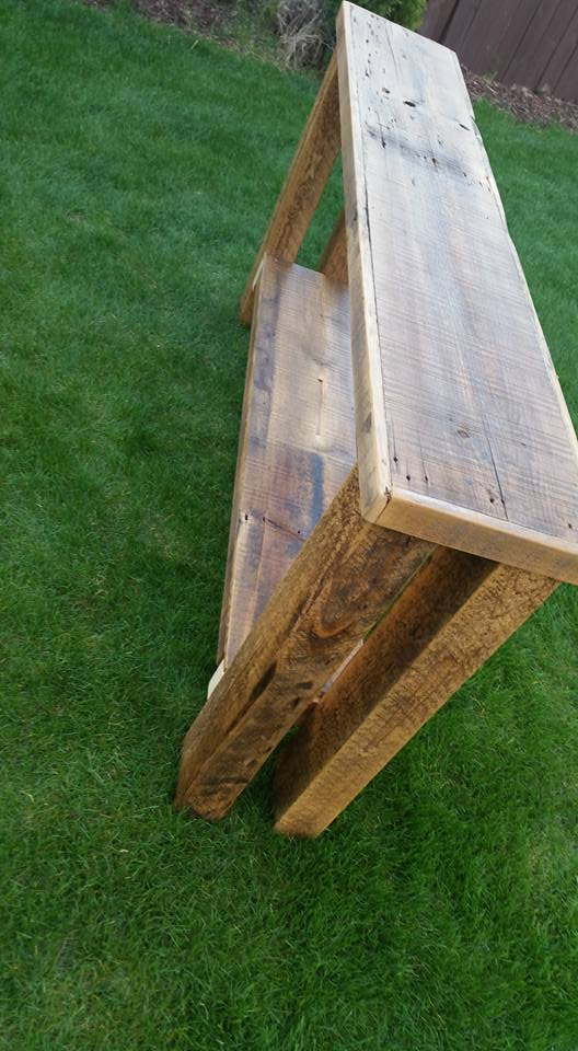rustic Barn wood Sofa or console table made from 1800s ...
