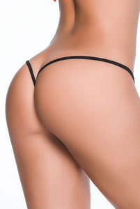 Wet Look Clip Y Back Thong