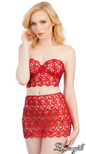 Venice Lace Red 2 pc. Set