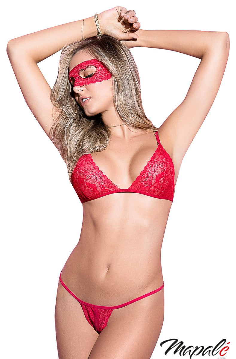 Red Lace Set w/ Mask