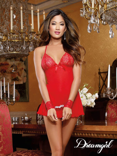 Red Naughty Babydoll 3PC Set