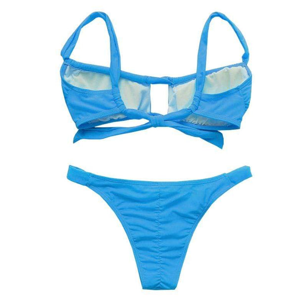 BISOUS WEAR ADDISON BIKINI SET - BLUE