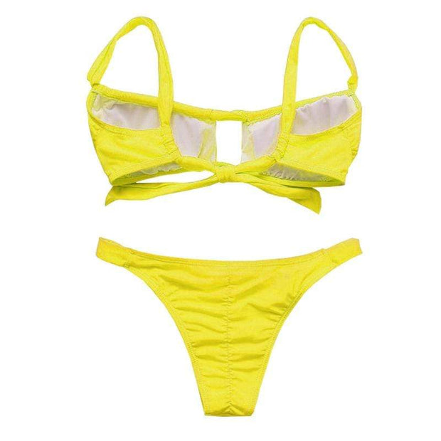 BISOUS WEAR ADDISON BIKINI SET - YELLOW