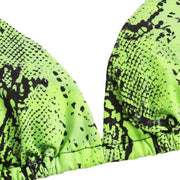 BISOUS WEAR HANNA BIKINI SET - GREEN SNAKE